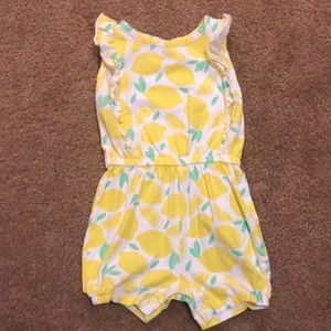 Carter's lemon romper